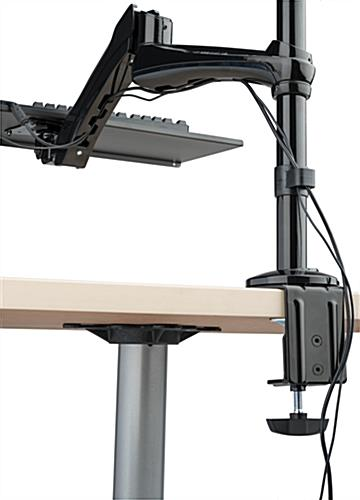 Sit Stand Monitor Arm with Cable Management