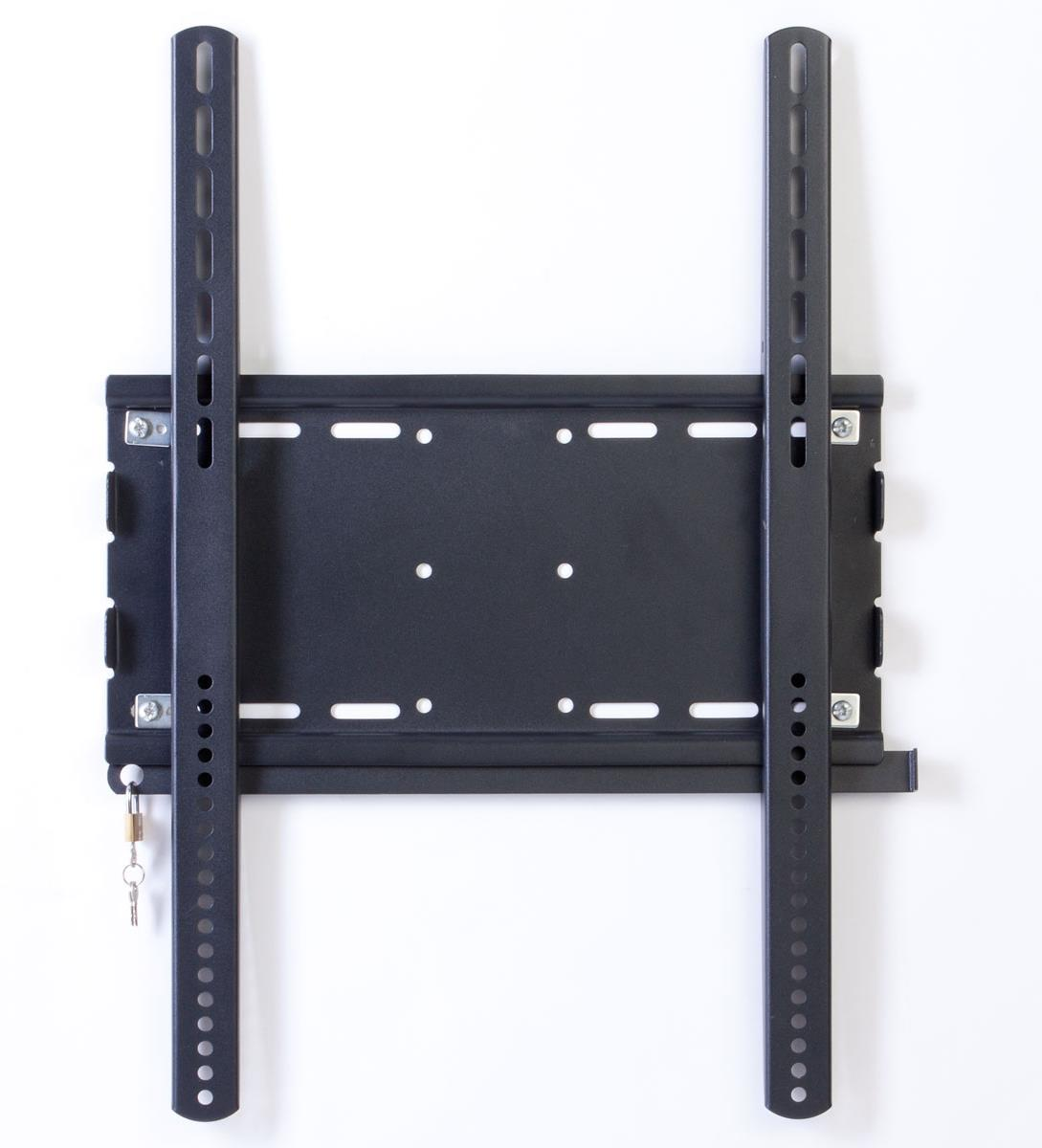 Secure tv mount for hanging lcd monitors in public venues - Vertical sliding tv mount ...