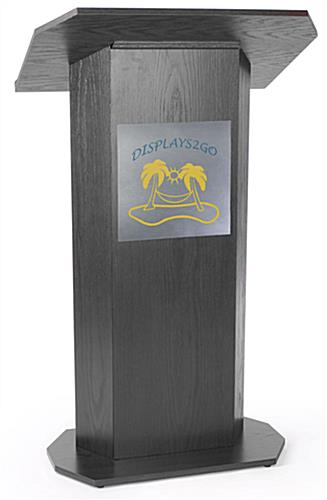 2 Color Custom Silver Panel For Lecterns Brushed Metal Vinyl