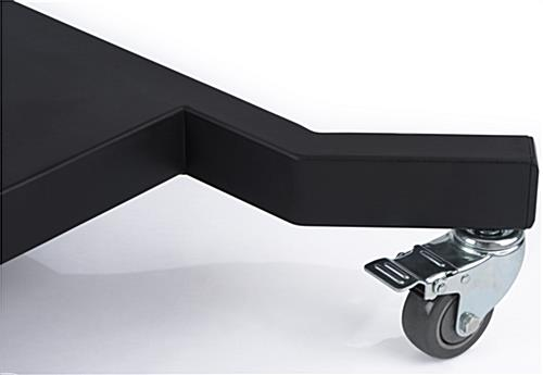 110 Inch TV Stand with Wheels, Lockable Casters