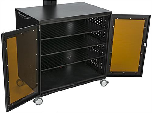 Floor Standing TV Cart with Power Management | AV Cabinet