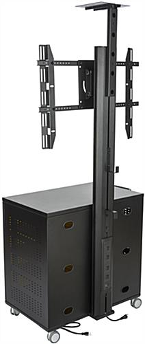 Floor Standing TV Cart With Power Management, VESA Compliant