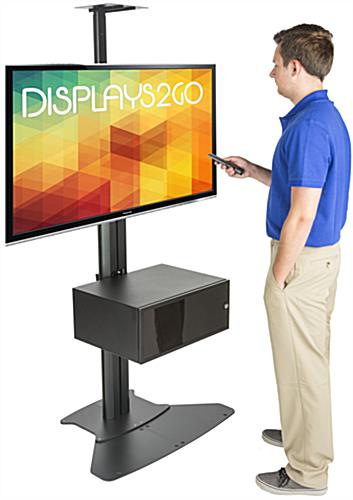 Video Conference Stand With Power Supply for Trade Shows
