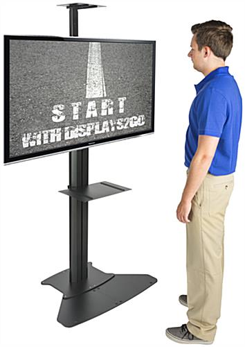 Heavy Duty Floor Standing TV Stand With Power Supply