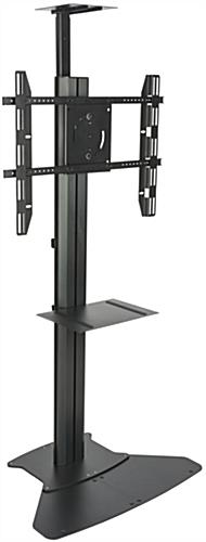 Floor Standing TV Stand With Power Supply, Aluminum Frame