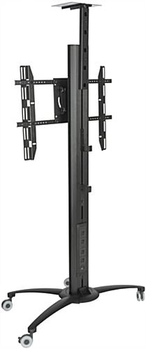 Floor Standing TV Stand With Power Strip, 198lb Load Capacity