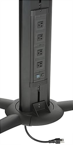 Floor Standing TV Stand With Power Strip & 4 Outlets