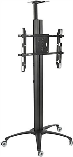 Black Floor Standing TV Stand With Power Strip