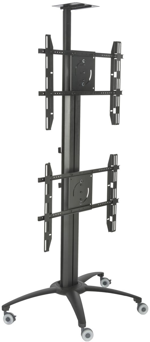 dual tv stand with power distribution heavy duty construction. Black Bedroom Furniture Sets. Home Design Ideas
