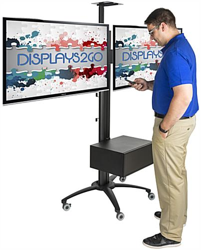 Dual Screen TV Stand With Power Distribution, VESA Compliant