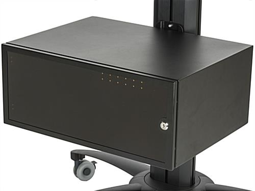 Dual Screen TV Stand With Power Distribution & Storage
