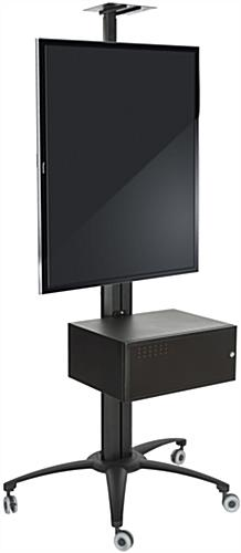 Rolling Tv Stand With Integrated Power Strip Av Cabinet