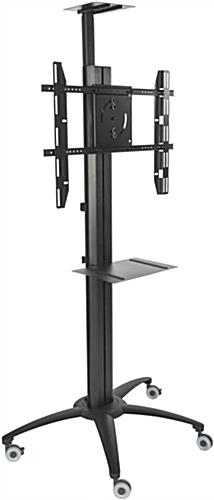 Black Flat Screen TV Trolley With Power Distribution