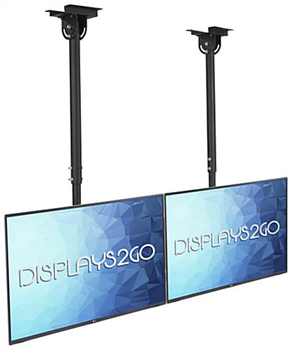 Suspended Ceiling TV Mount for 2 Flat Panels
