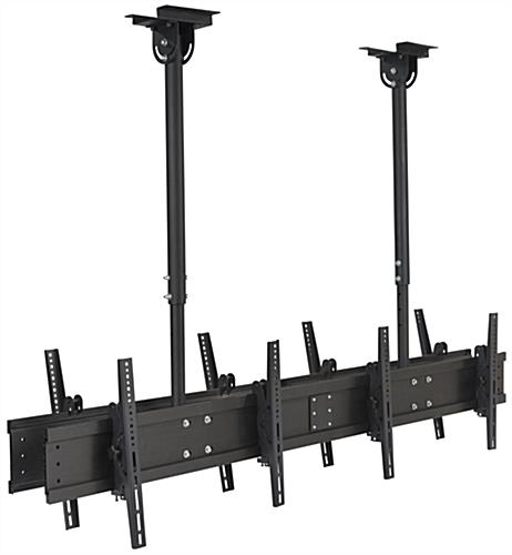 Black Quad TV Ceiling Mount