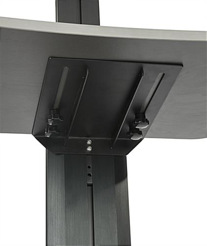 Stand Up Workstation, Easy Sliding Adjusters