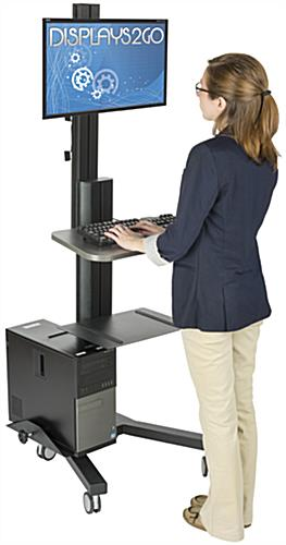 Ergonomic Computer Workstation, 220lb Load Capacity