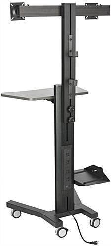 Ergonomic Dual Monitor Sit Stand Cart