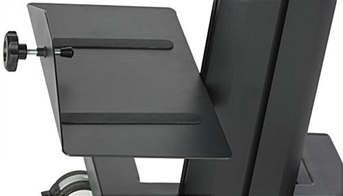 Dual Monitor Sit Stand Cart With CPU Shelf
