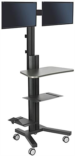 anodized standing computer cart