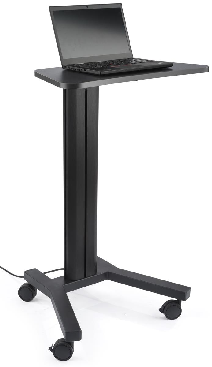 Standing Mobile Laptop Cart Included Cable Management