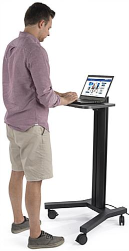 Standing Mobile Laptop Cart for Offices