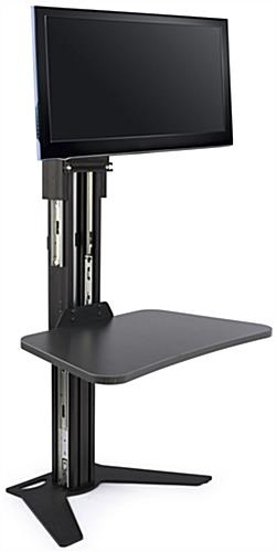 Sit Stand Riser with Monitor Mount