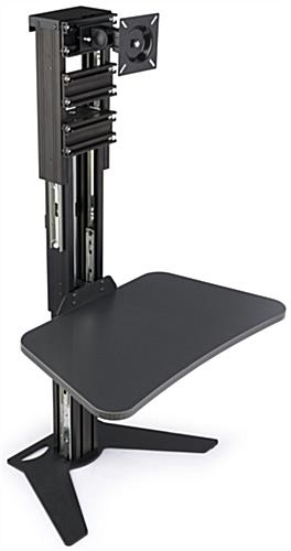 Sit Stand Riser with Gas Lift Tray