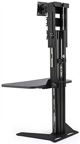 Sit Stand Riser with Black Frame