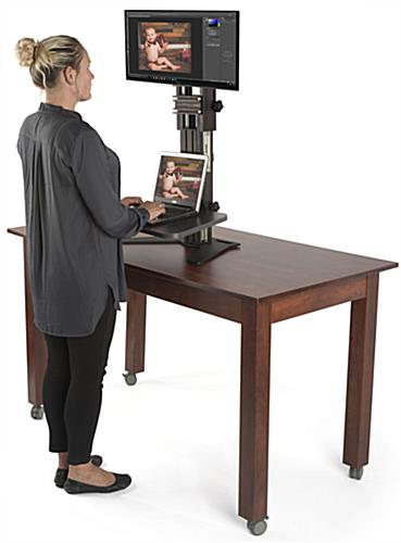 Sit Stand Riser with Sturdy Base