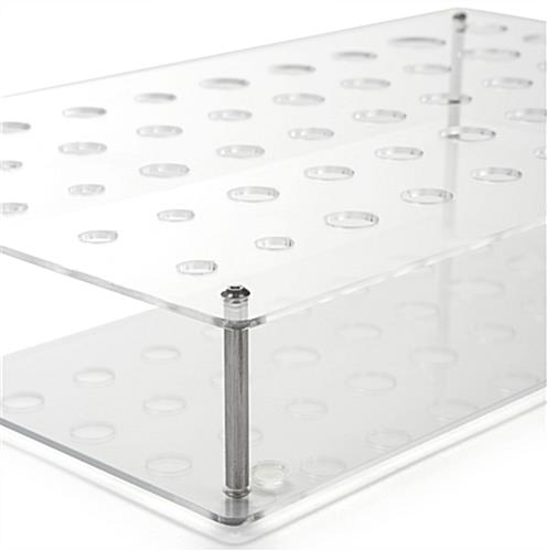 Acrylic Retail Counter Makeup Display with Silver Standoffs