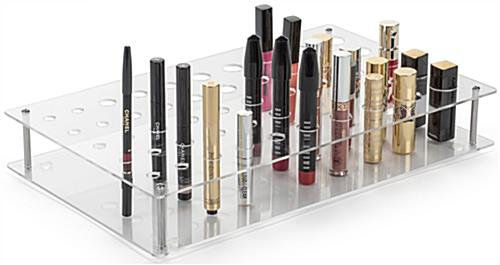 "15.5"" Wide Acrylic Retail Counter Makeup Display"