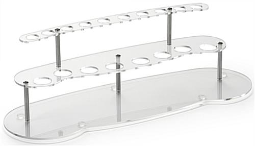 "15"" Wide Tiered Acrylic Lipstick Display Rack"