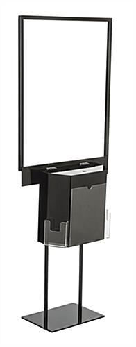Black Sign Stand with Sweepstakes Box for Posters