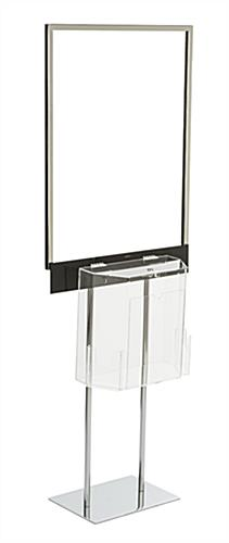 Lockable Floor Standing Poster with Ballot Box