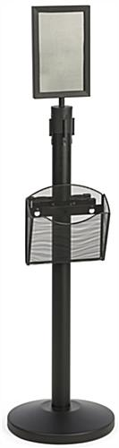 Stanchion w/ Literature Pocket & Sign Holder & Gray Belt – Queue.Pole Line