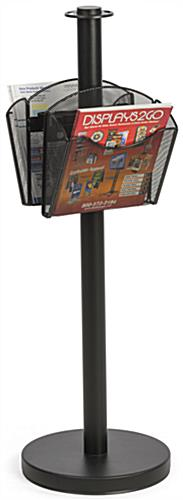 Stanchion Post with 2 Literature Pockets for Banking Centers