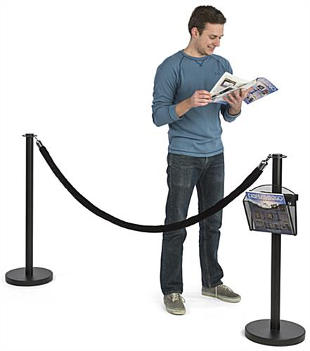 Stanchion Post w/ Literature Pocket is Great for Use in Museums