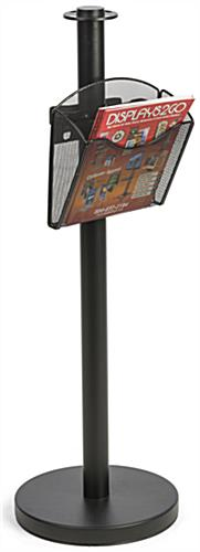Stanchion Post w/ Literature Pocket for Distributing Promotional Materials