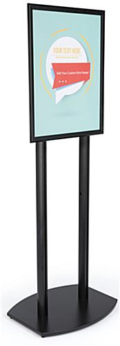 22x28 Double Pole Sign Stand with Single Sided Design