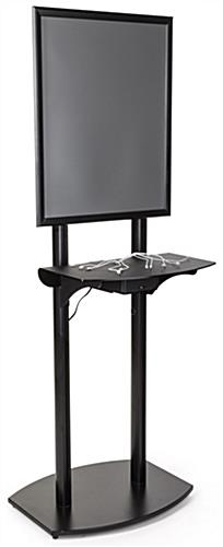 Airport Charging Kiosk with Black Shelf