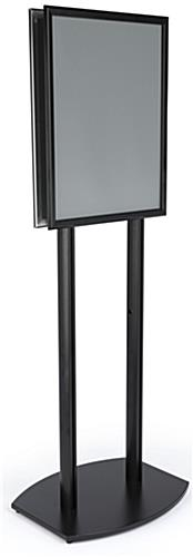 22x28 Twin Pole Sign Stand with Snap Frames