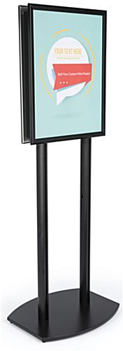 22x28 Twin Pole Sign Stand with Double Sided Design