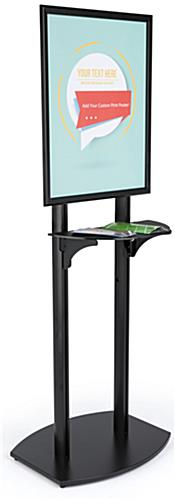 22x28 Double Pole Bulletin Holder with Single Sided Design