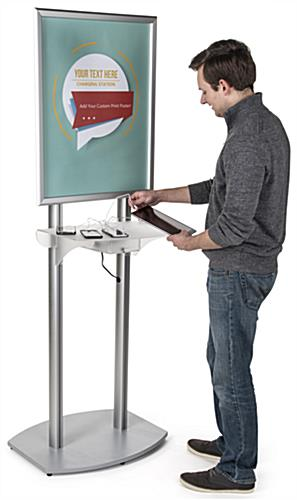 Poster Frame Charging Station for Airports