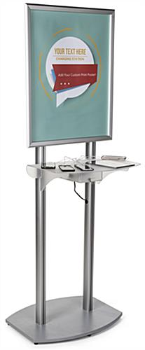 Silver Poster Frame Charging Station