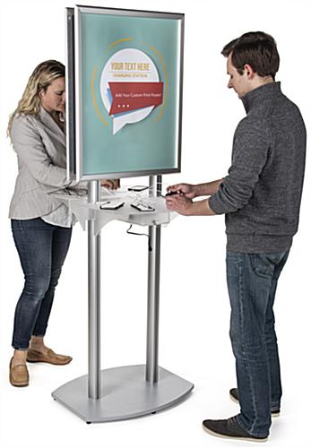 Poster Kiosk Charging Station for Airports