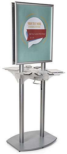 Silver Poster Kiosk Charging Station