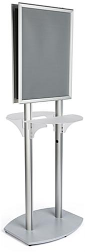 22x28 Twin Pedestal Poster Display with 2 Shelves