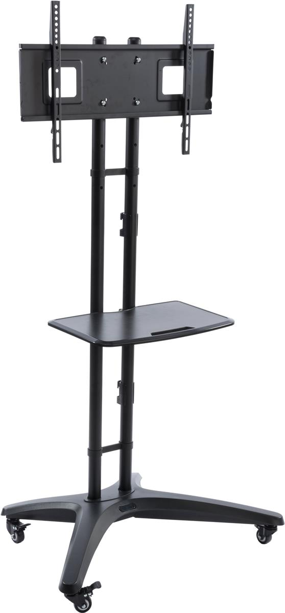 Displays2go TV Stand for Floor with (1) Shelf, Fits Monit...